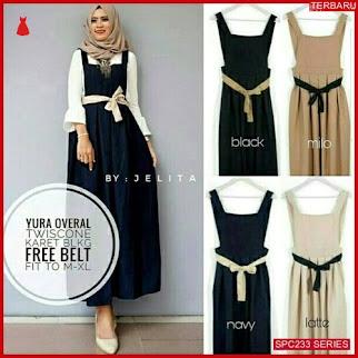 SPC233Y47 Yura Overall Terbaru Dress Muslim Wanita | BMGShop