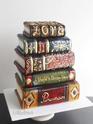 book cake theme jane austen wedding the princess bride