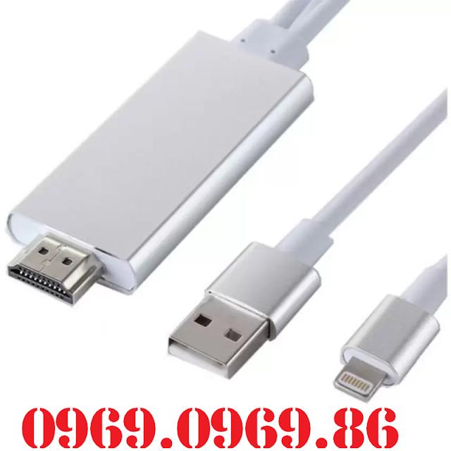 Cáp chuyển đổi iPhone 5/5S iPhone 6/6S/6Plus iPad Mini Mini 2 iPad Air sang HDMI tivi