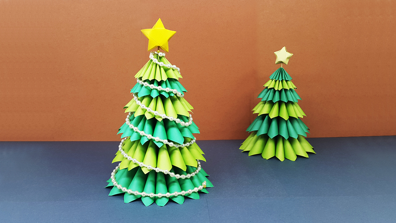 3d Paper Christmas Tree.Colors Paper How To Make A Beautiful 3d Paper Christmas