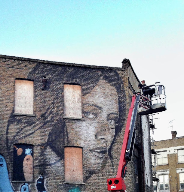 New Street Art Portrait By Australian Artist RONE in East London, United Kingdom. 5