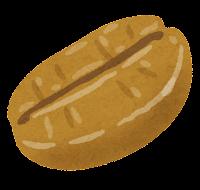 コーヒー豆のイラスト(シナモンロースト)