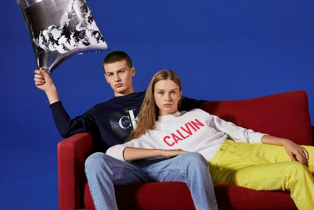 26ce5322cb58c CALVIN KLEIN JEANS and accessories iconic logo sweatshirts and playful  handbags available in a range of festive colors, making the season merry  and bright.