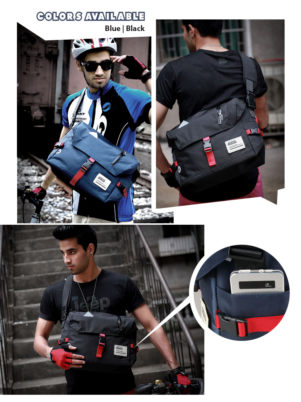 2bf5aa62d6c5 Flash Messenger Sling Bag Shoulder Outdoor Casual Backpack Bag. To improve  your shopping experience