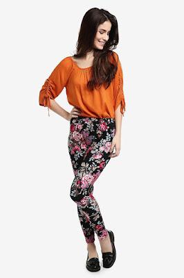 legging bunga bunga Sporty dan Seksi dengan Celana Legging
