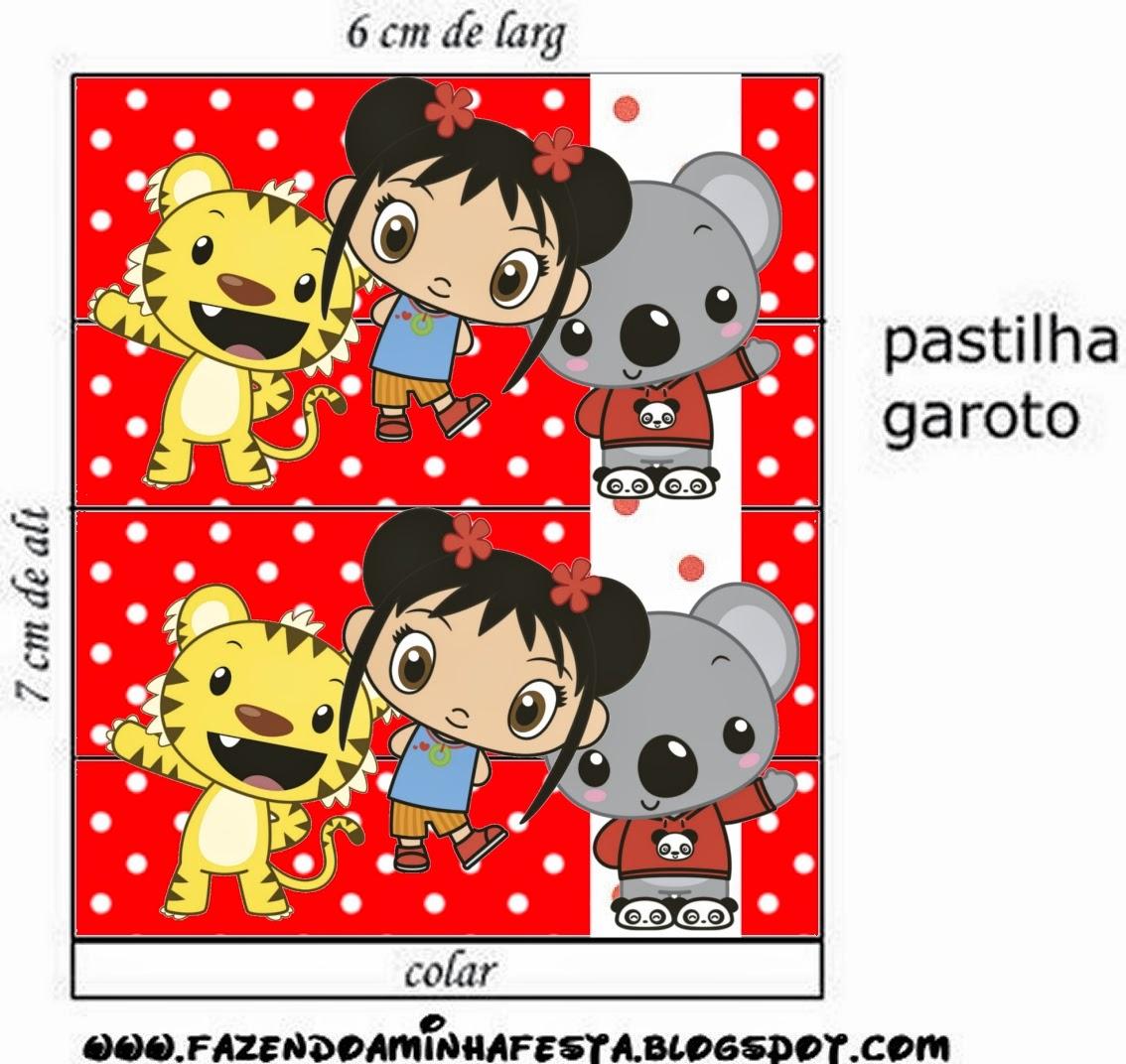 Etiquetas de Ni Hao Kai Lan para imprimir gratis.