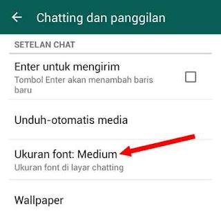 ukuran huruf whatsapp