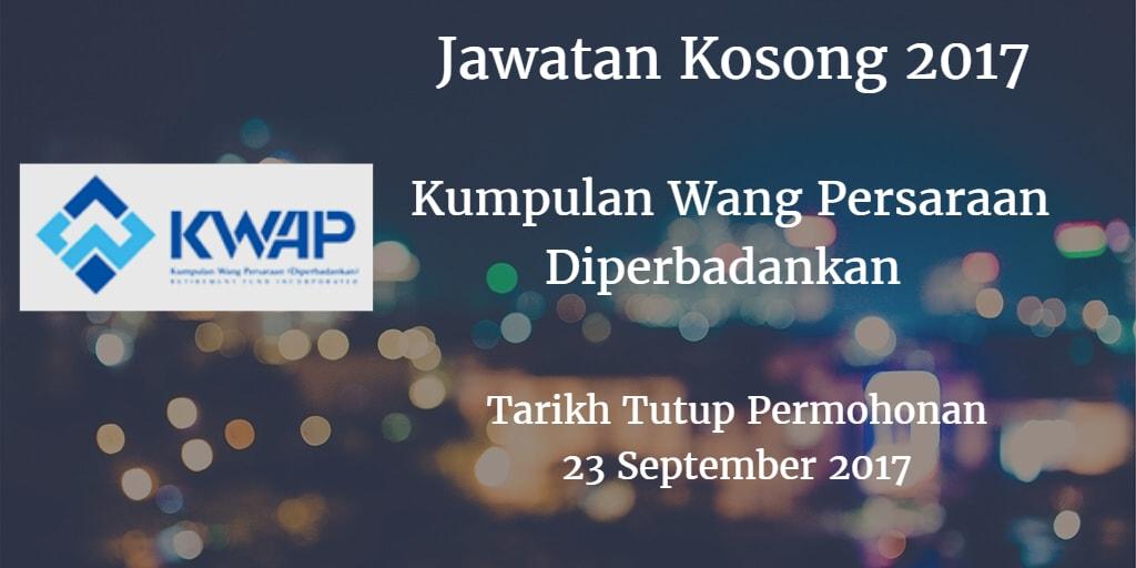 Jawatan Kosong KWAP 23 September 2017