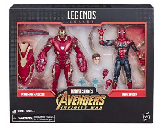 Marvel 80th Anniversary Marvel Legends Iron Man Mark 50 and Iron Spider toys
