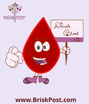 National Blood Donation Day: Motivational Cartoon Illustration for Blood Donation Appeal