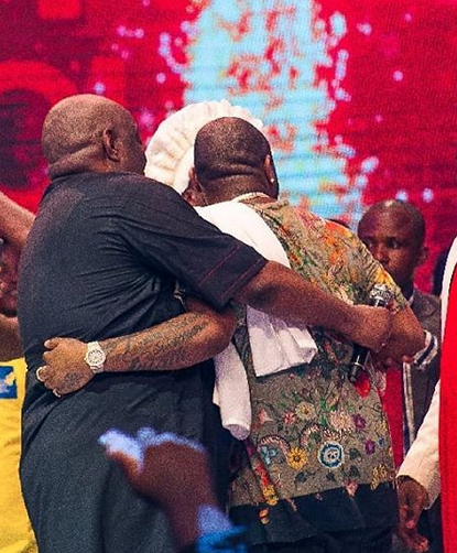 Image result for Davido and Dele Momodu finally end their 2-year old beef at Ovation Red Carol