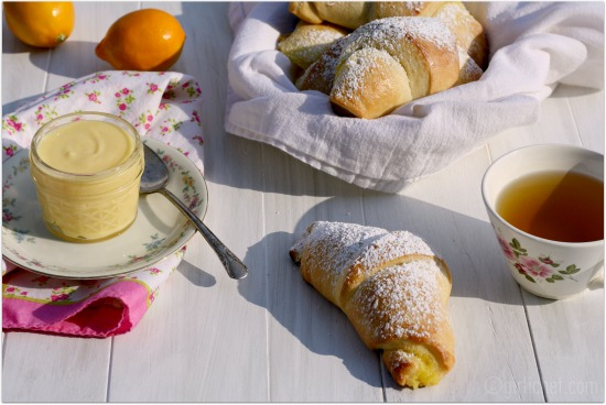 Meyer Lemon Curd Brioche Crescents