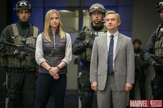Martin Freeman and Emily VanCamp in Captain America Civil War review