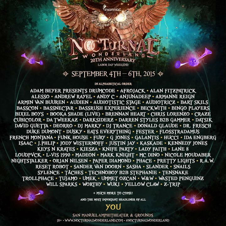 nocturnal lineup 20151