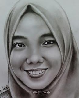 Jasa lukis wajah lukis karikatur sketsa wajah pensil