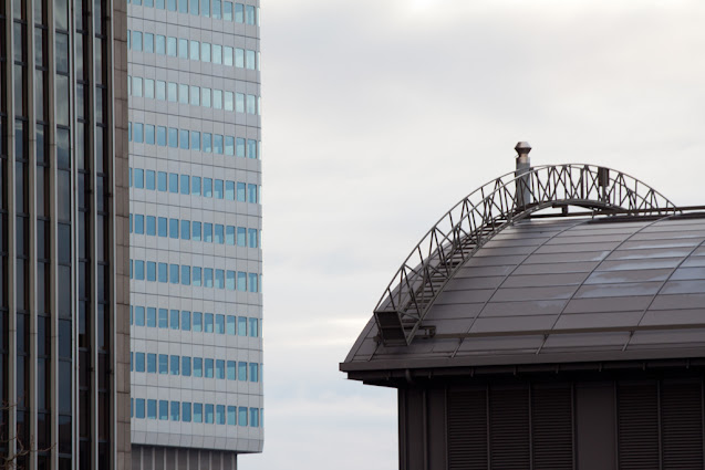 Grattacieli del quartiere finanziario di Francoforte