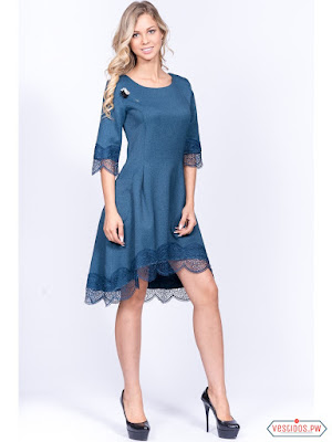 Vestido azul petroleo con que zapatos
