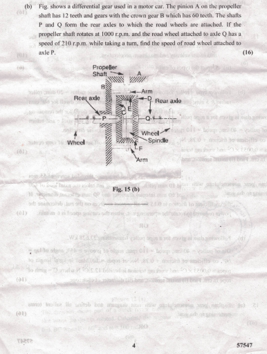 ME6401 Kinematics of Machinery May June 2016 Question