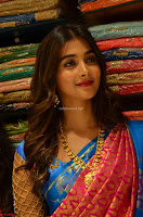 Puja Hegde looks stunning in Red saree at launch of Anutex shopping mall ~ Celebrities Galleries 029.JPG