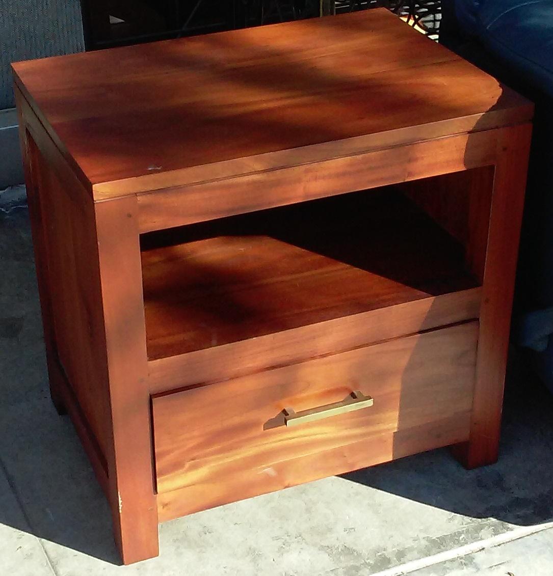 Uhuru Furniture Collectibles Sold Solid Asian Teak Nightstand 35