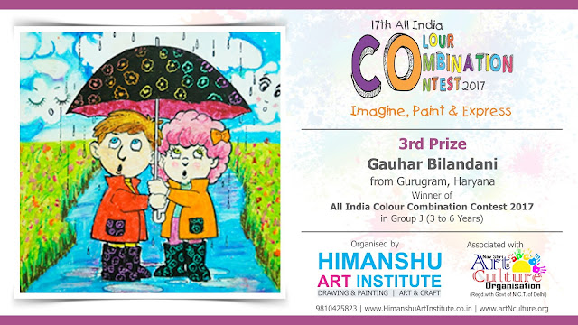 3rd Parize Winner| Gauhar Bilandani from Gurugram, Haryana in All India National Level Painting Competition for Kids