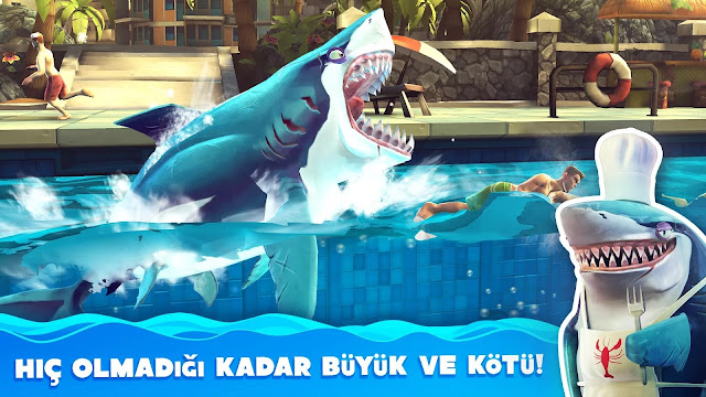 hungry shark world hile apk indir