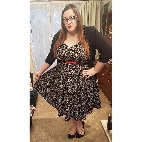 Plus size Lindy Bop Leopard print dress