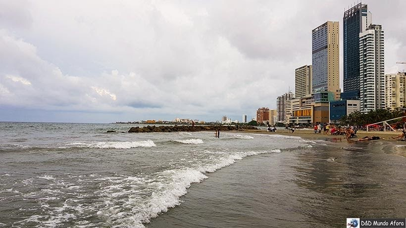 Praia de Bocagrande - Roteiro de 4 dias em Cartagena, Colômbia