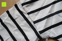 Ärmel: Yidarton Damen Rundhals Gestreift Stretch Basic T-Shirt Oberteile Langarmshirt Loose Bluse Tops