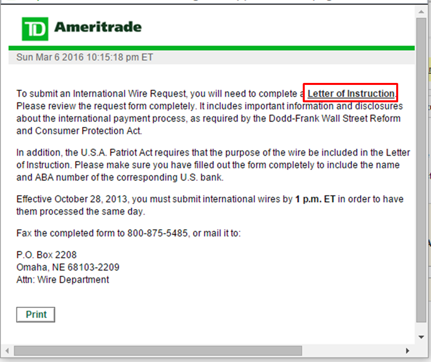 Ali Invest Ali Blog Td Ameritrade Withdraw And