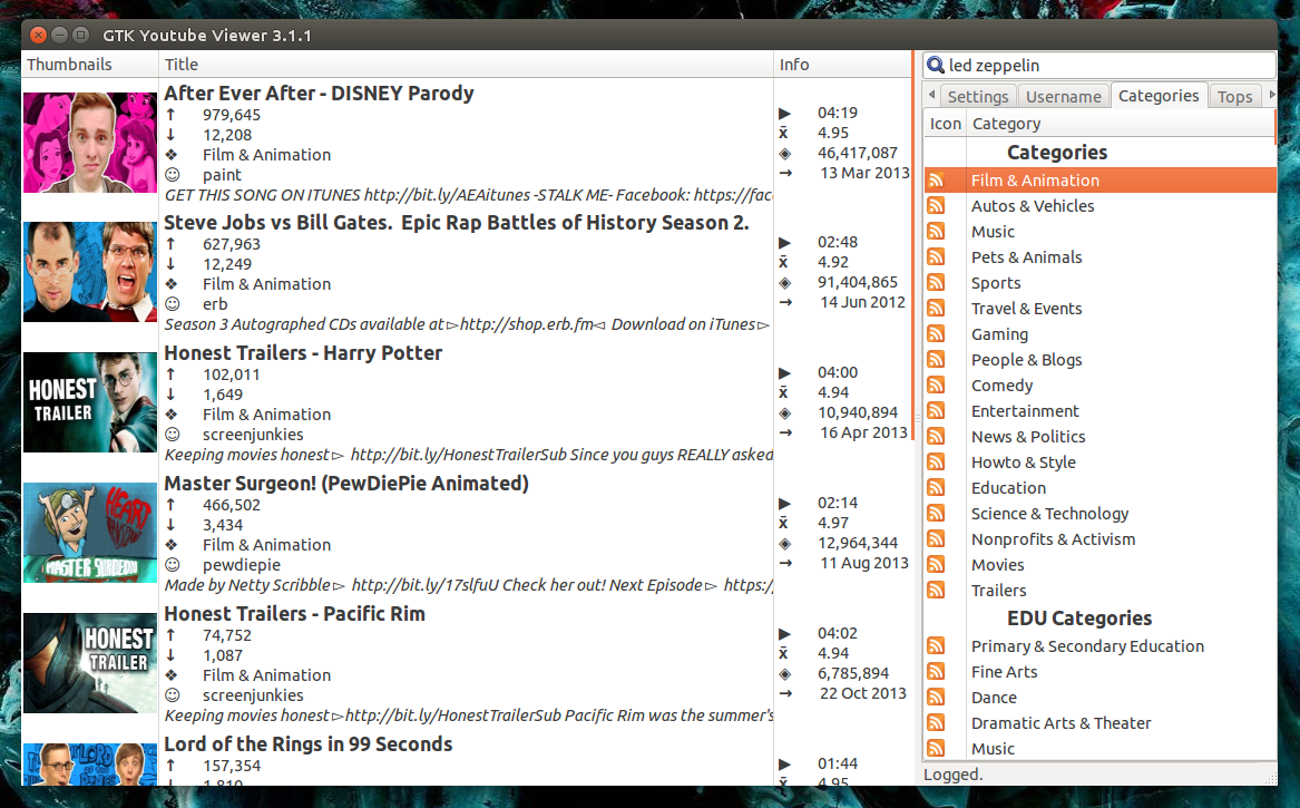 YouTube Viewer: A Complete YouTube Client For Linux [Ubuntu PPA