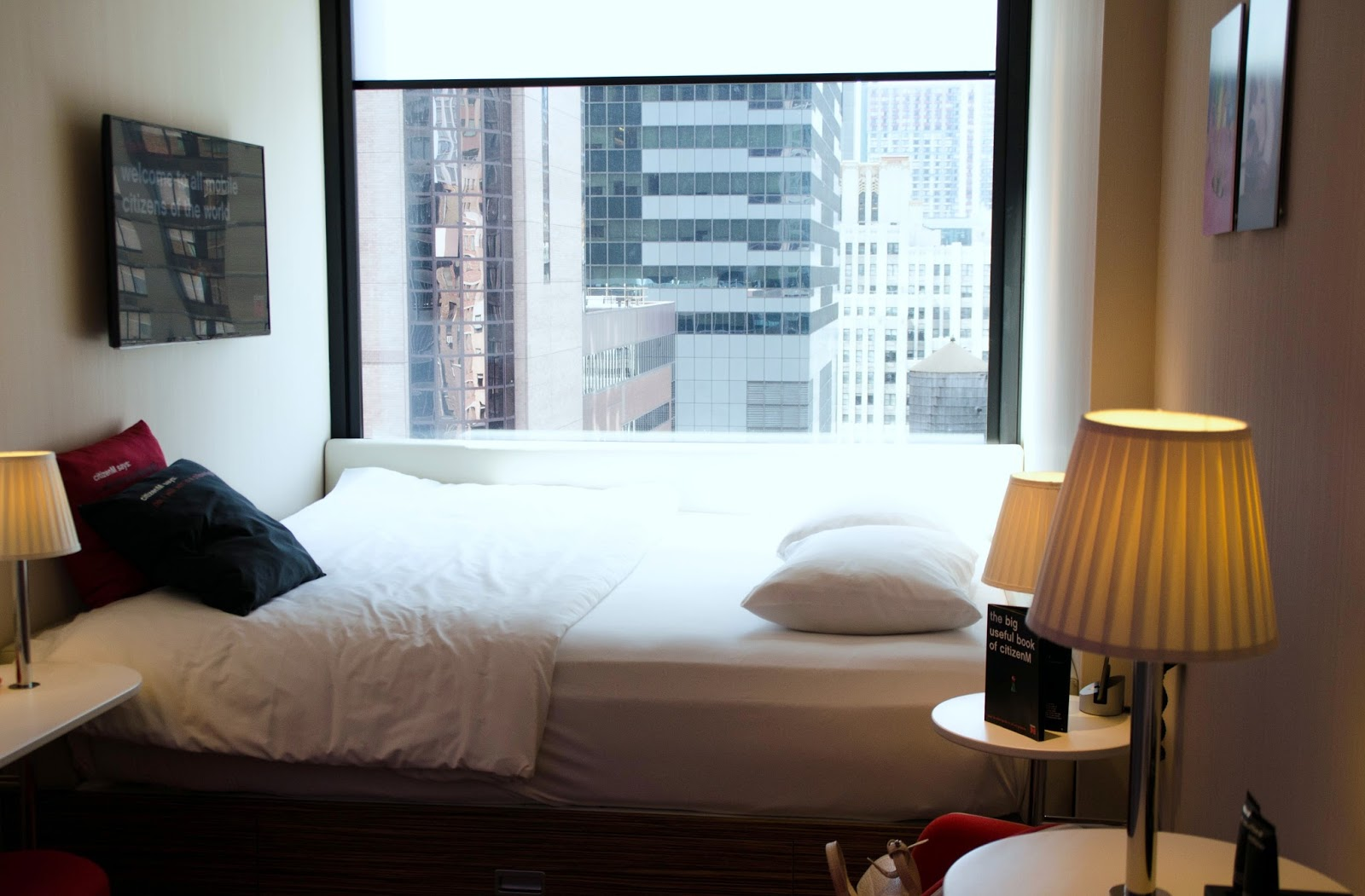 citizenm new york times square hotel room