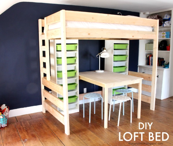 diy loft bed with plans