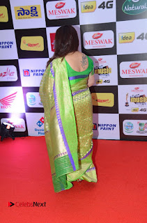 Kushboo Pictures in Green Saree at Mirchi Music Awards South 2015 ~ Celebs Next