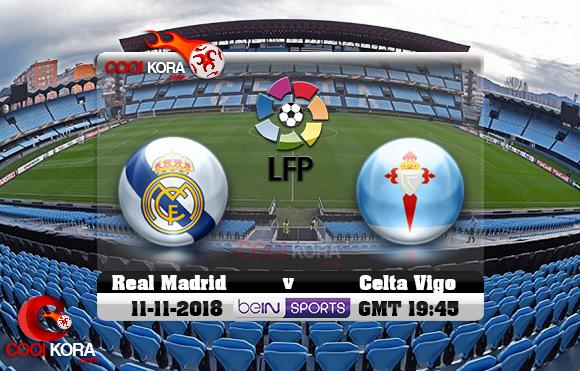 مشاهدة مباراة سيلتا فيغو وريال مدريد اليوم 11-11-2018 في الدوري الأسباني
