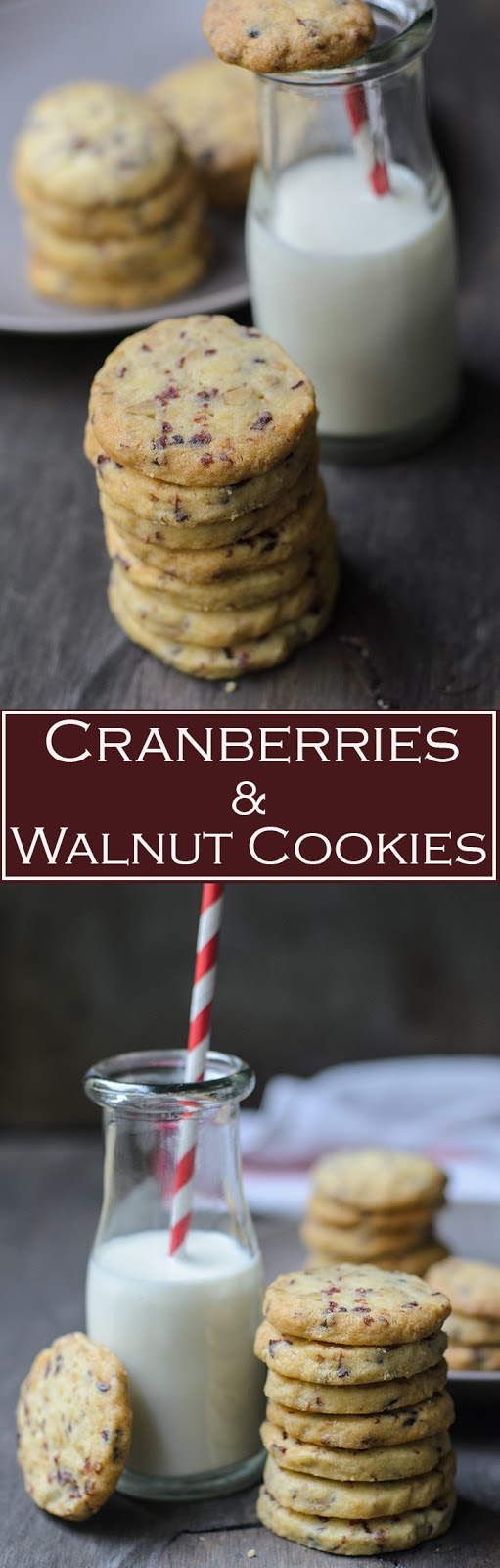 Addictive cranberries and walnut cookies