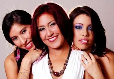 Foto del Grupo Marú bien maquilladas
