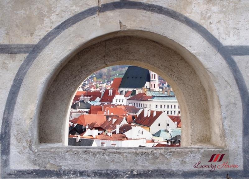 view from cesky krumlov castle
