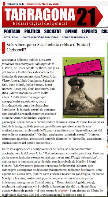 Tarragona 21: Vols saber quina és la fantasia eròtica d'Eudald Carbonell?