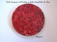 Tarta de queso al Baileys y Jalea de pétalos de Rosa