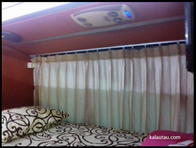 kalautau.com - bus mewah dengan fasilitas tempat tidur