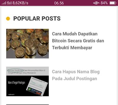 Cara membuat featured image di Template AMP pada blogspot