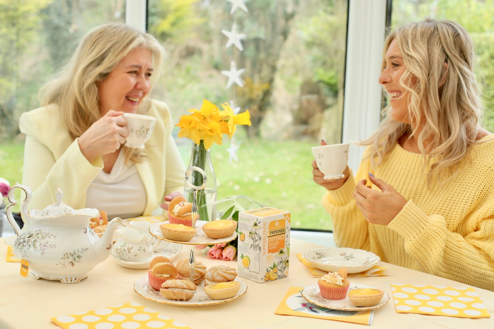 yellow afternoon tea