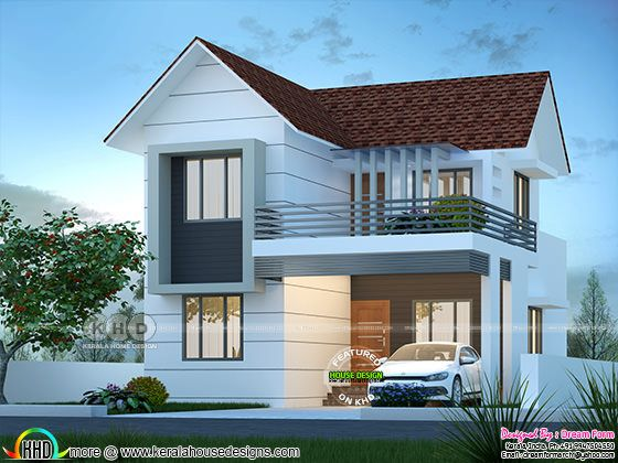 Mixed roof modern house 1650 square feet