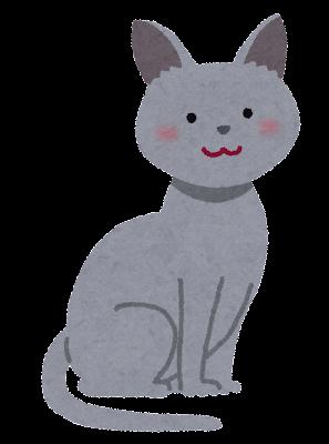 ロシアン・ブルーのイラスト(猫)