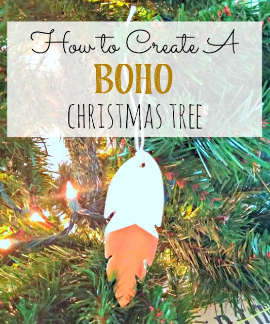 Create your own boho themed Christmas tree!