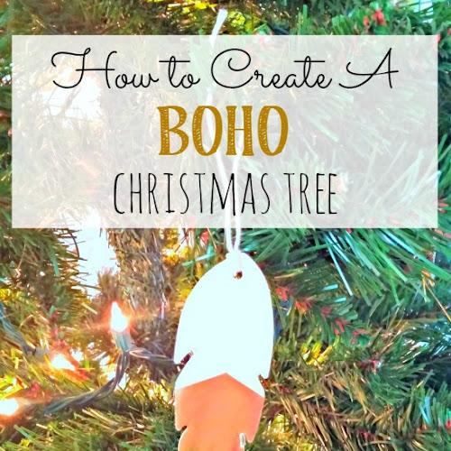 Christmas Decorating - How to Create a Boho Christmas Tree
