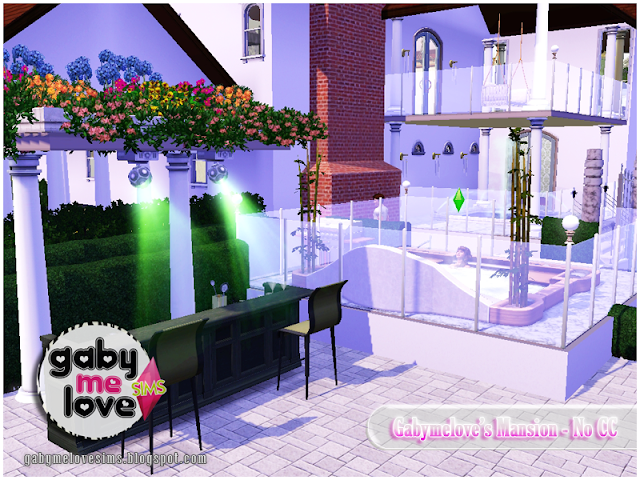 Gabymelove's Mansion |NO CC| ~ Lote Residencial, Sims 3. Bar y Jacuzzi.