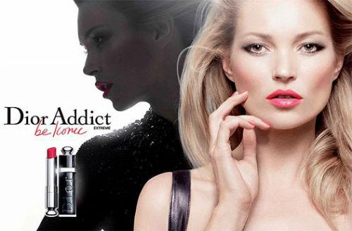 349984ada888 ... кампания губной помады Dior Addict с ключевым слоганом «Будь иконой»  была представлена Йонасом Экерландом. Лицом линии стала супермодель Кейт  Мосс.