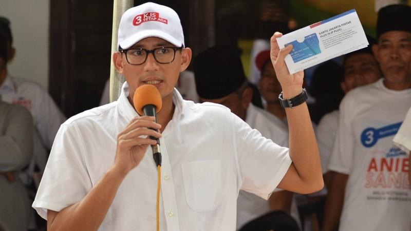 Sandiaga Uno saat berkampanye
